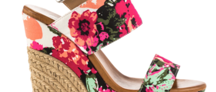 Floral Summer Wedge Shoes