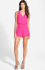 Sleeveless romper from ASTR, comes in three colors, hot pink, royal blue and black