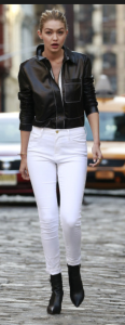Gigi Hadid Black & White casual look