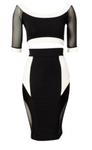 Black & White pencil skirt and top alternative $22.99