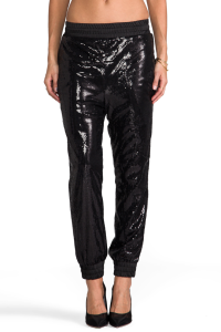 Black sequin pants from Revolve, a total steal originally $244.00 now on sale for $71.00!