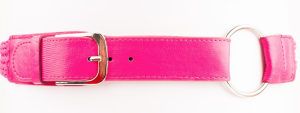 Pink Braided side buckle belt