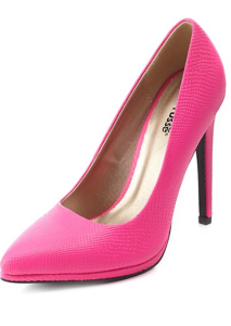 Charlotte Russe pink textured pumps