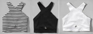 Black & White crop tops Abercrombie $18.99