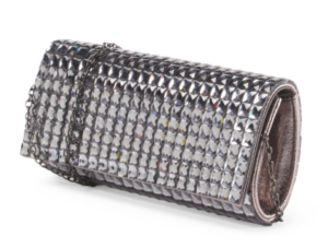 David D'Arrezo Silver barrel clutch available at TJMAXX