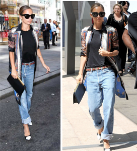 Nicole Ritchie dressed up her boyfriend jeans