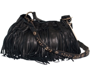 McFadin fringe bag with vintage strap $396.00