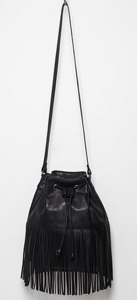 Forever 21 black bucket fringe bag $27.90