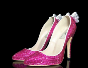hot pink crystal pumps