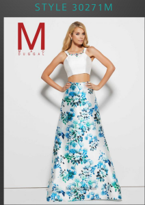 floral two piece prom dress trends