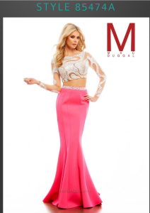 prom dress trends two piece prom dress