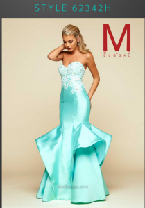 mermaid prom dress in mint