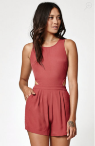 ROMPER WITH CUTOUTS FROM KENDAL AND KYLIE COLLECTION