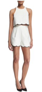 Scalloped Hem shorts and top from Kendall & Kylie summer teen style