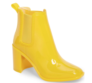 Yellow Hugh Heeled Boots