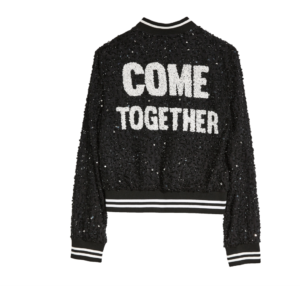 Alice and Olivia Black Sequin Jacket